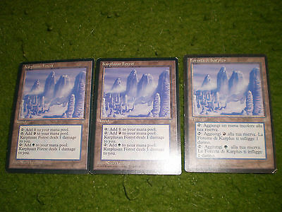 MAGIC MTG FORESTA DI KARPLUS - KARPLUSAN FOREST ICE AGE ENGLISH e ITA 3X played