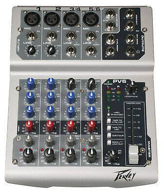 PEAVEY PV 6 PV Series 6 Input Stereo Mixer