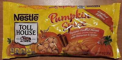 New  Nestle Toll House Pumpkin Spice Flavored Morsels 10 Oz Bag Baking Chips