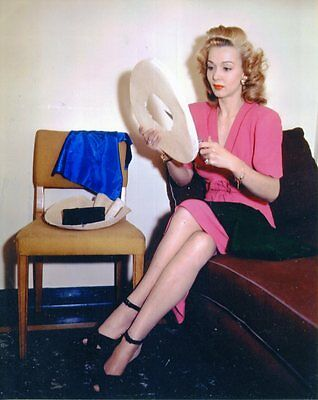 Carole Landis - Superb 8x10 Color Photo from personal negative