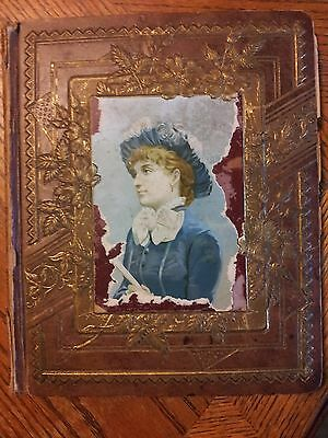 VINTAGE SCRAPBOOK FROM THE MID 1800'S.  Poems & Photo's