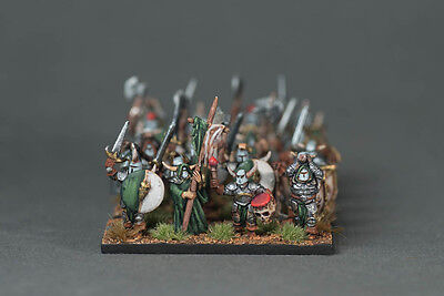 Unit of Warriors of Chaos (24 pcs 10mm)- warmaster army with Standard,Musican
