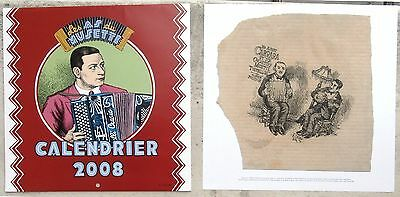 Crumb illustrations calendrier les as du musette 2008 + Hors texte Neuf