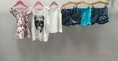 Girls Bundle Of Clothes. Age 7-8. New Look, Fat Face, Gap.  A2385