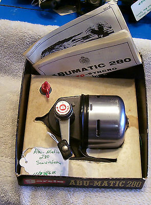 Garcia Abu-Matic 280 Reel  11/27/16Ok   Nice Working  Box Papers Missing Cover