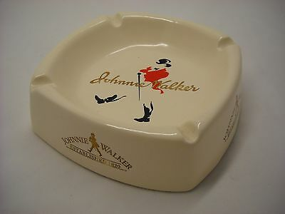 Johnnie Walker Promotional Ceramic Ashtray Collectible