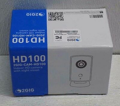 2GIG HD100 Indoor HD Security Camera Day/Night NEW