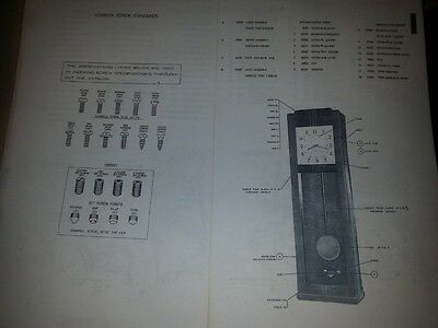 1958 IBM Time Recorder Punch Clock Parts Listing (BOM) - Digital File + Reprint