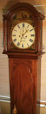 Antique Mahogany Painted Dial  8 Day  Longcase / Grandfather Clock