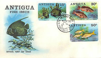 Antigua First Day Cover 1976 Fish Issue