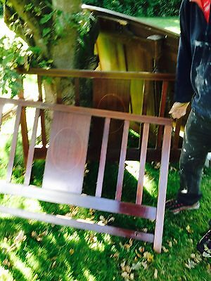ONE Antique Wooden Bed Head  Large size - VGC.
