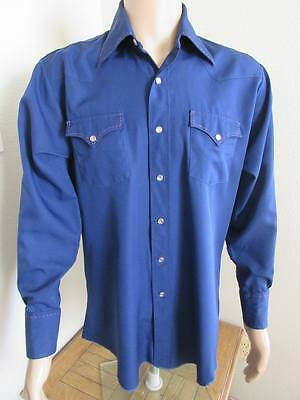 """Mens Vintage 1960's Western Cowboy Shirt MADE IN USA By 'H Bar C' - Chest 46"""""""