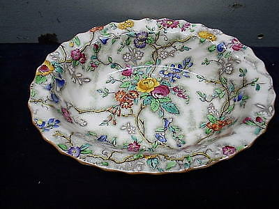 Spode Copeland Patricia Chintz Oval Bowl 9 3/4 inches