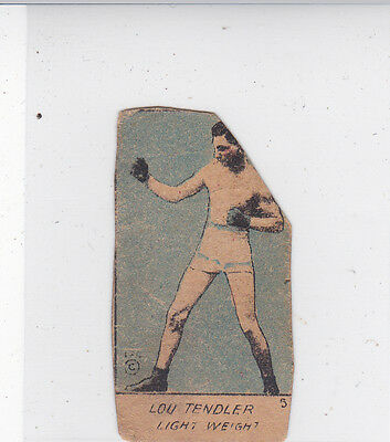 1920s BOXING STRIP CARD of LOU TENDLER - LIGHT WEIGHT