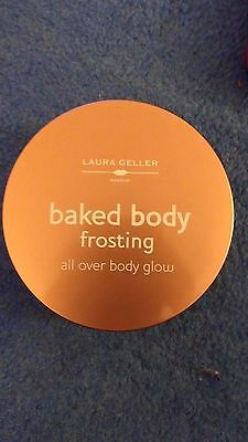 Laura Geller Baked Body Frosting In Sugar Glow 24g (all over body glow) Sealed