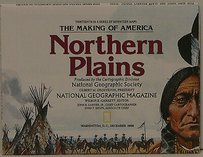 1986 National Geographic Map of the Northern Plains