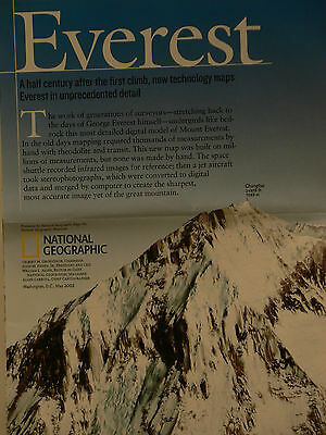 2003 National Geographic Map of Everest 50