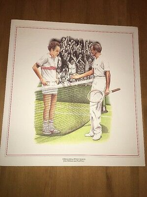 Unframed Tennis Print Of John McEnroe And Fred Perry Mint