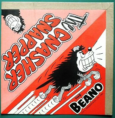 THE BEANO Comic Sept 1984 Number 2201 with FREE GIFT Banger Gnasher/Snapper RARE