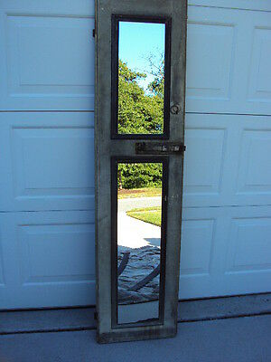 """Vintage Shutter with Double Pane Mirrors 66"""" High"""