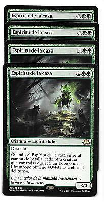 4 ESPIRITU DE LA CAZA Eldritch Moon NM MTG Spirit of the Hunt ESPAÑOL x4