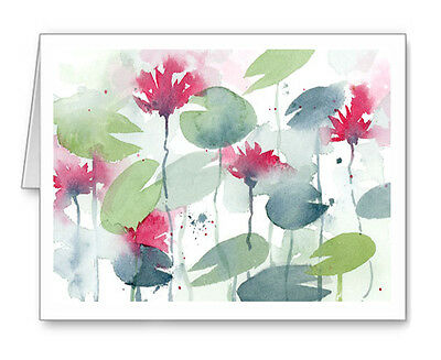 Water Lilies note cards by watercolor artist DJ Rogers