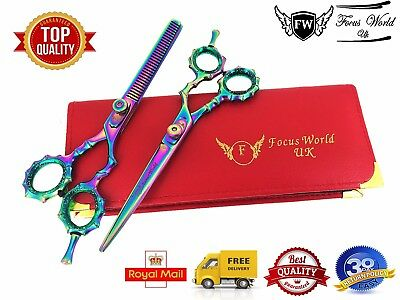 """FW®- Professional Hairdressing Barber Hair Cutting Thinning Scissors Set 5.5"""""""