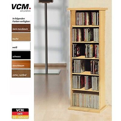 VCM CD/ DVD Vostan Tower without Glass, Cherry Wood