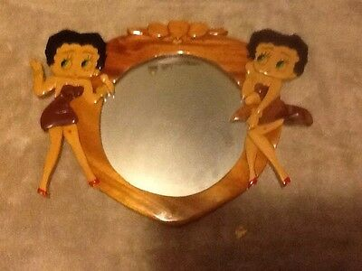 Betty Boop Collectable Framed Bar Mirror Wood