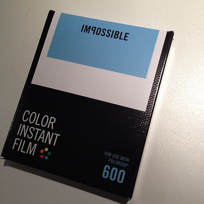 1 Film fuer Polaroid 600 Kamera Impossible color white frame.