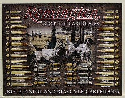 REMINGTON Bullet's brown board Metal Sign rifle pistol revolver cartridges 1679