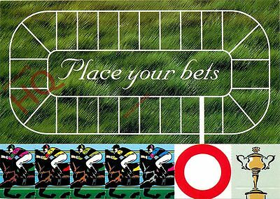 Postcard: Horse Racing, Place Your Bets