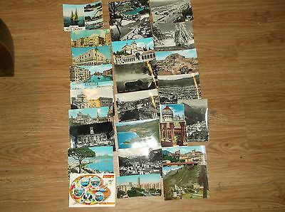 Vintage used Postcards from Italy with stamps 1950-1960's