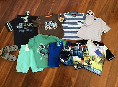 FREE POST Baby Boys All New Bulk Summer Clothes Sz 12 to 18mth,10 items,Country