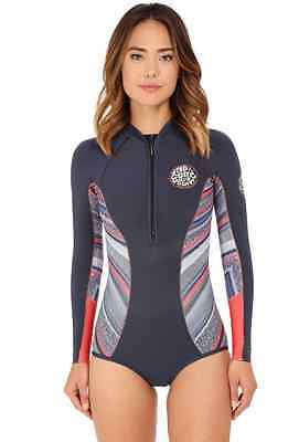 Rip Curl G Bomb Women's Long Sleeve Booty SPRING Suit Wetsuit 1mm Navy WSP4EW
