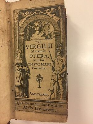 1623 Antique Rare Book: P Virgilii Maronis Opera
