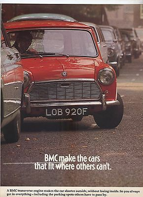 BMC Morris Mini Original Advertisement removed from a magazine