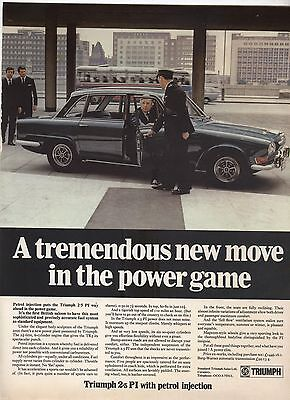 Triumph 2.5 PI Original Advertisement removed from a magazine