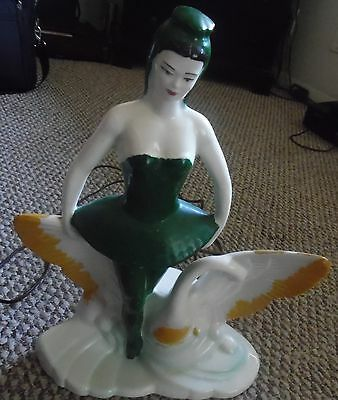 Vintage TV lamp Swan and Lady