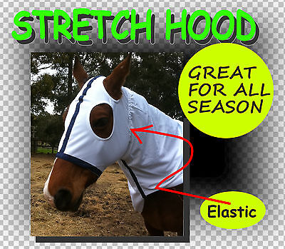 Comfort~Stretch~Horse Hood ~S~ Great White