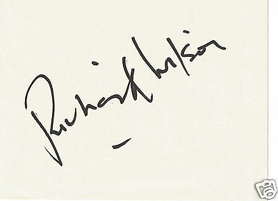 Richard Wilson British Actor One foot in the grave Hand Signed Card  6 x 4