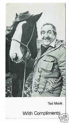 Ted Moult TV Presenter Writer  Rare Hand Signed Photograph 7 x 4
