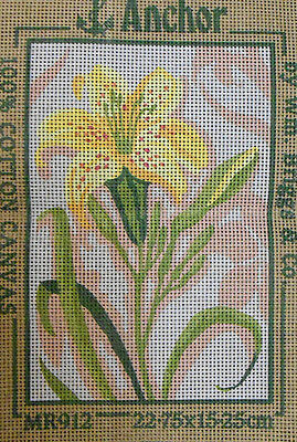 Yellow Lily Flower - new Anchor tapestry canvas