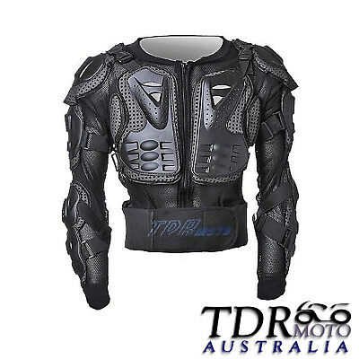 Black MX Protective Dirt bike Wear Gear Body Armour OffRoad MX Design Style XMAS