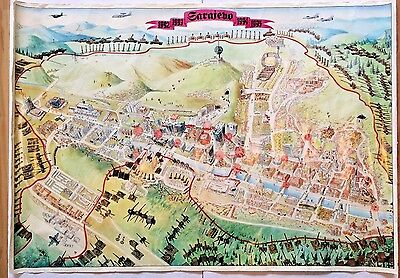 Double sided Map of Sarajevo during the Siege of the City Between 92 & 95 39x28