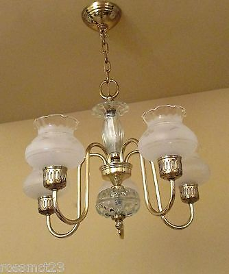 Vintage Lighting Mid Century Colonial chandelier