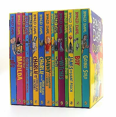 Brand New Roald Dahl Collection Phizz Whizzing 15 Classic Story Books Box Set