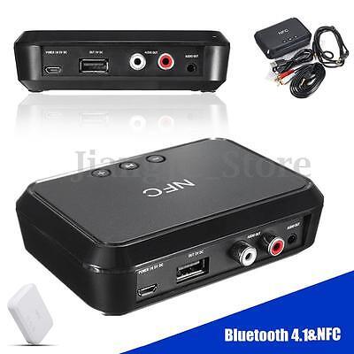 Bluetooth 4.1 NFC Music Receiver Stereo Audio 3.5mm AUX Adapter 1A USB Charger