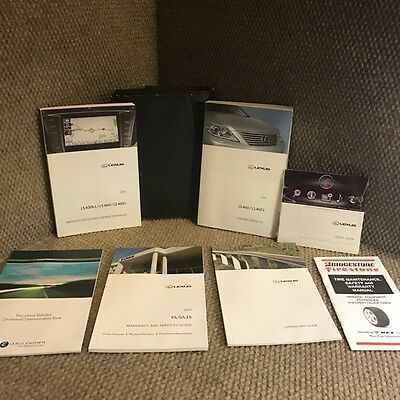 2011 Lexus LS460 LS460L Owners Manual Set with Navigation guide, extras and case