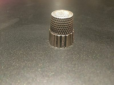 """Antique Rare Ornate Sterling Webster """"Panels,"""" Thimble- Size 11"""